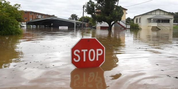 Many towns, such as central Lismore (pictured) have gone under water. Photo/Dave Hunt/AAP