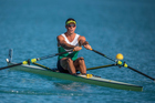 Robbie Manson in action during premier single heat NZ Rowing Championships. Photo/Photosport