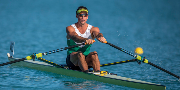 Loading Robbie Manson in action during premier single heat NZ Rowing Championships. Photo/Photosport