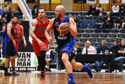 Nelson Giants player Sam Dempster during an NBL game against the Canterbury Rams. Photo / Photosport