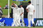 Black Caps captain Kane Williamson calls for a DRS review during the third test against South Africa. Photo/Photosport