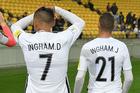 Dane Ingham and Jai Ingham made their All Whites debuts against Fiji. Photo / photosport.nz
