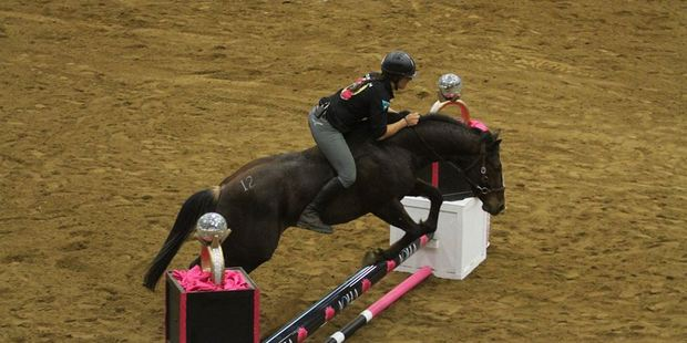 Loading Vicki Wilson in action during Road to the Horse. Photo/Facebook