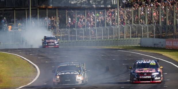 Supercars victory burnouts may be a thing of the past at Pukekohe Park Raceway. Photo / Nick Reed