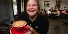 Watch: Watch: Emma brings 'big smiles' at cafe