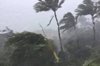 Strong winds and heavy rain lashes Mackay in Queensland ahead of Tropical Cyclone Debbie 27 March 2017