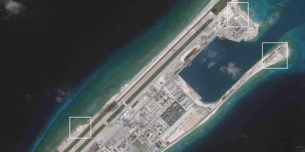 Each island has hangers for 24 fighter jets, as well as bombers and surveillance aircraft. Photo / CSIS / Supplied