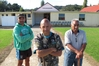Karangahape Marae secretary Robert Rush (left), chairman Roger Kingi and kaumatua Rawiri Timoti want to rebuild the marae out of reach of floods. PHOTO / PETER DE GRAAF