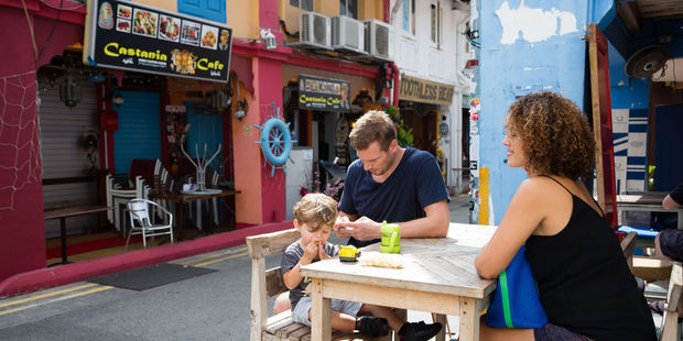 Kids were much more interested in trying local fare than western food. Photo / 123rf