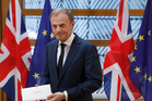 EU Council President Donald Tusk after receiving British Prime Minister Theresa May's Brexit letter. Photo / AP
