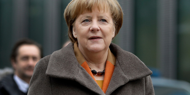 May immediately ran into resistance from German Chancellor Angela Merkel. Photo / AP