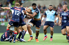 Will Skelton in action for the NSW Waratahs against Melbourne Rebels. Photo/Photosport