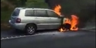 Watch: Car engulfed in fire on Kaimais