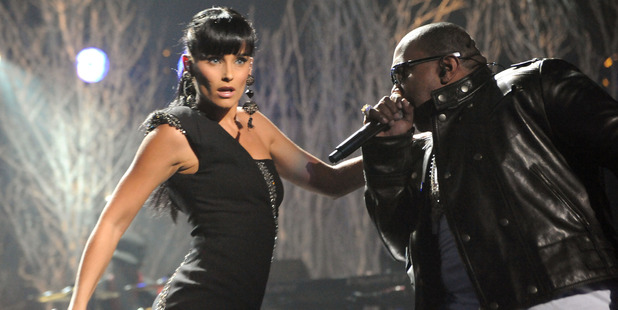 Singer Nelly Furtado and rapper Timbaland perform onstage at the 2009 American Music Awards. Photo / Getty