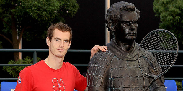 Andy Murray as a terra cotta warrior in China. Photo / Getty Images