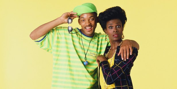 Will Smith as William 'Will' Smith, Janet Hubert as Vivian Banks. Photo / Getty