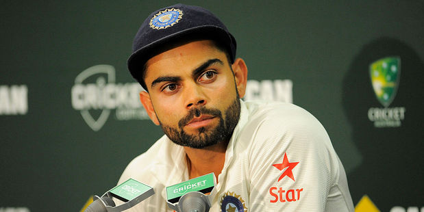 Virat Kohli of India looks on during day five of the Fourth Test. Photo / Getty