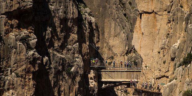 El Caminito del Rey was built in 1905. Photo / Getty Images