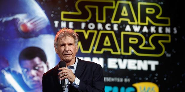 Harrison Ford attends the Star Wars: The Force Awakens fan event. Photo / Getty