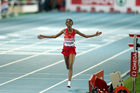 Turkey's Elvan Abeylegessewins the women's 10,000m final at the 2010 European Athletics Championships. Photo/Getty Images