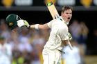 Steve Smith of Australia celebrates scoring a century against Pakistan. Photo/Getty Images