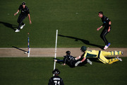Kane Williamson dismisses Josh Hazlewood to win the first ODI at Eden Park. Photo / Getty Images
