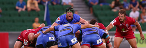 Matt Philip of the Force calls out during the round two Super Rugby match between the Western Force and the Reds. Photo / Getty