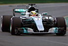 Lewis Hamilton during qualifying for the Australian Formula One Grand Prix. Photo / Getty Images
