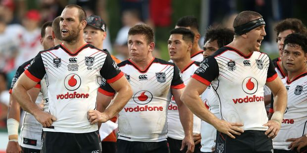 Loading The Warriors looks dejected after a Dragons try. Photo / Getty