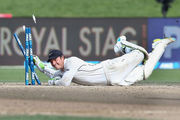 BJ Watling completes a runout. Photo / Getty