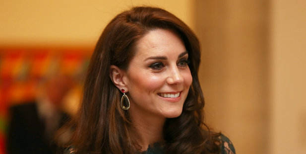 Kate arrived at a fundraising gala at the National Portrait Gallery in London without Prince William. Photo / Getty