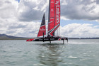 Emirates Team New Zealand have had their final hit-out on Auckland waters. Photo: Hamish Hooper/ETNZ