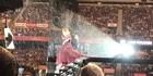 Watch: Watch: Adele braves the rain