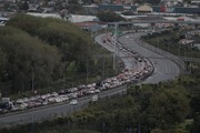 SH20 traffic backed heavy following earlier incident at Walmsley Rd exit southbound. Photo / Michael Craig