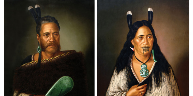 Loading Gottfried Lindauer paintings Chief Ngatai-Raure (left) and Chieftainess Ngatai-Raure (right) were stolen from Parnell's International Art Centre yesterday morning. Photo / Supplied by police