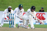 Tom Latham took arguably the catch of the summer and found form with the bat on day two. Photo / www.photosport.co.nz