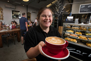 Emma Ferens, who has Down Syndrome, works at Zarbo cafe in Auckland's Newmarket on Tuesday and Wednesdays. Photo /  Brett Phibbs
