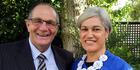 Whanganui MP Chester Borrows has a lot to tell the next candidate Harete Hipango. PHOTO/ STUART MUNRO