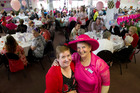 Rotorua Breast Cancer Trust trustees Sarah Davies (left) and Vivienne Kermode are amongst the bustle of the Pink High Tea. Photo/Stephen Parker