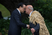 Chinese Premier Li Keqiang is welcomed to Government House in Wellington. Photo / Mark Mitchell