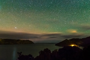 Larryn Rae photographed the Aurora Australis from the Huia Headland, West Auckland. Photo/ Larryn Rae/Shadowshade