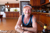 Hastings man Neville Chapman is packed and ready to go from the red zone as Cyclone Debbie rages outside. Photo / Supplied