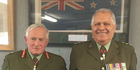 Lieutenant Colonel Sir Harawira Gardiner (right) is writing the book on New Zealand's 28th Maori Battalion B company. Photo/Supplied
