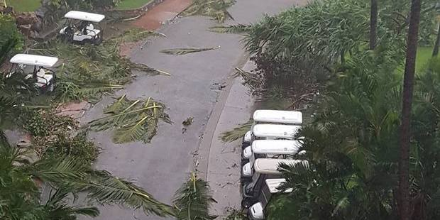 Damage at the Reef View Hotel in Hamilton Island, Queensland. Photo / Facebook