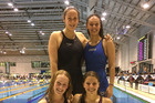 The performances of Whanganui Swim Team members (back left) Shannon Schimanski, Sarya Lower, Naimh Hogan and Alex Forlong at the national age group champs were nothing short of outstanding.