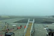 Wellington faces a second day shrouded in thick sea fog.  Photo / Cameron Carpenter