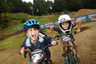 Kidsworx at Crankworx. Tommy Teat, 4, (left) and Travis Isemonger, 6,. 29 March 2017 Rotorua Daily Post Photograph by Ben Fraser