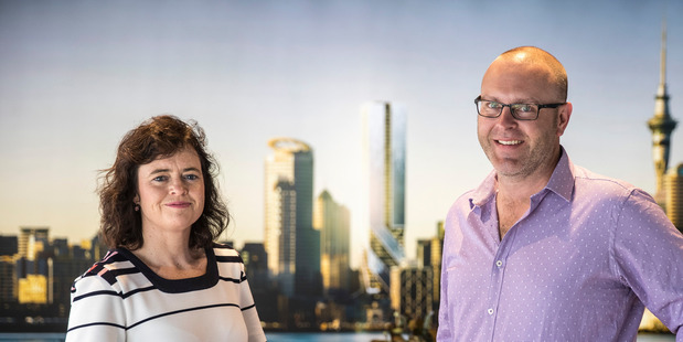 Liz Scott and Dean Fossey of Hengyi Pacific in the new Auckland display suite. Photo/Michael Craig