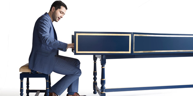 Mahan Esfahani is regarded as the world's hottest harpsichordist of the moment. He performed Poulenc with flying fingers and bittersweet touches. Photo/Bern