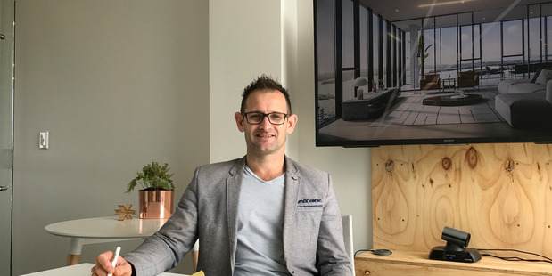 Jaimin Atkins, one of the lead architects on The Pacifica, a 57-level apartment tower planned for Auckland. Atkins is of Plus Architecture.